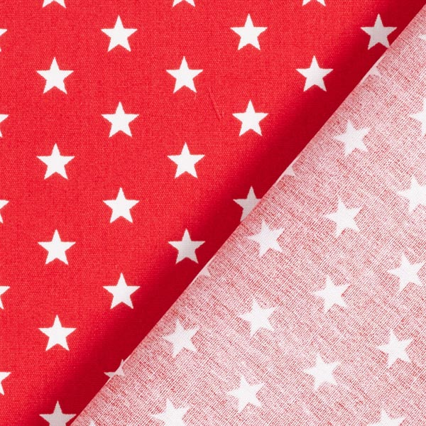 Popeline coton Moyens étoiles – rouge/blanc