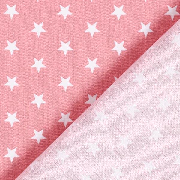 Popeline coton Moyens étoiles – rose/blanc