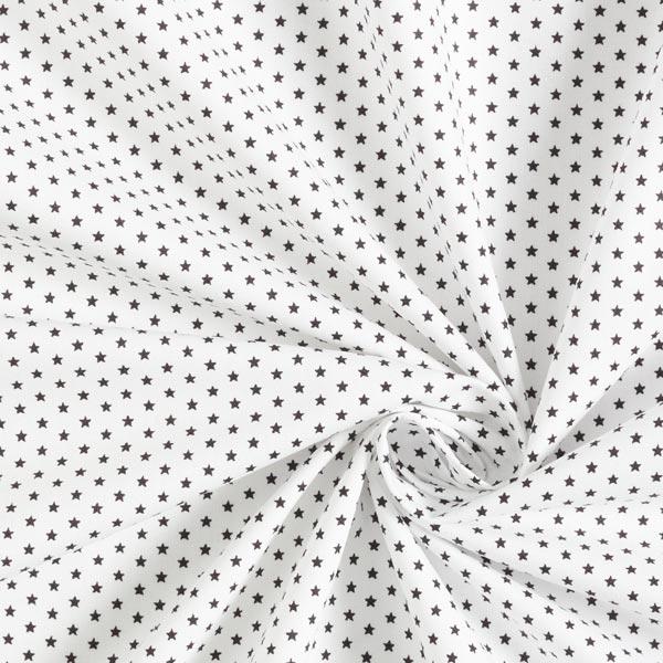 Popeline coton Petites étoiles – blanc/noir