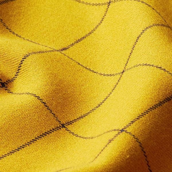Mélange viscose stretch carreaux – moutarde/noir