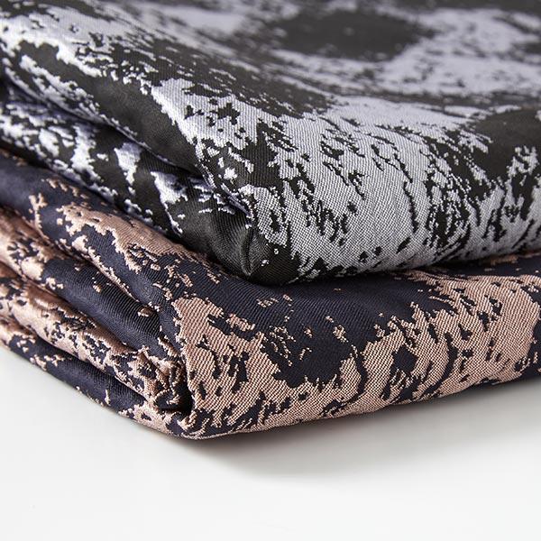 Jacquard Taches abstraites – noir/argent