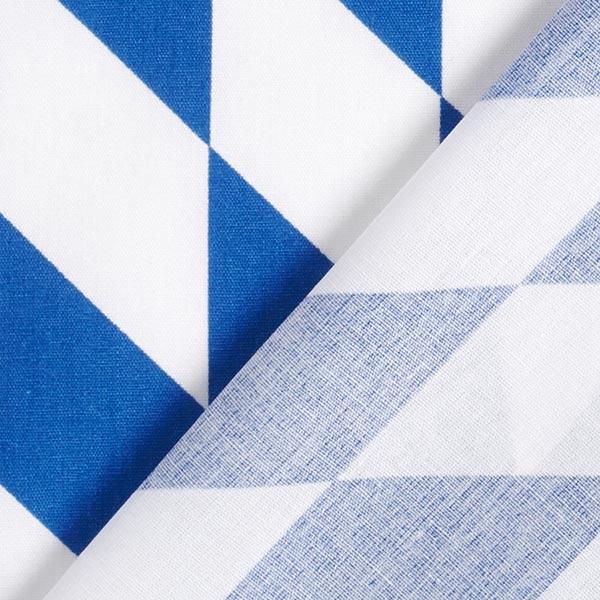 Tissu en coton Losange bavarois – bleu/blanc