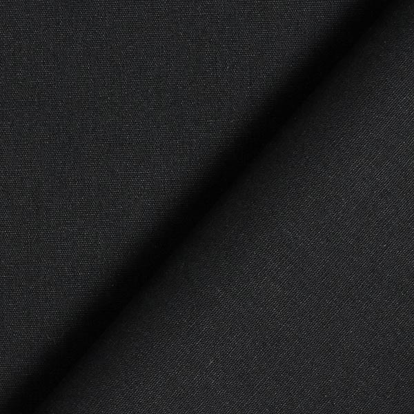 Baumwollstoff Popeline Uni – schwarz