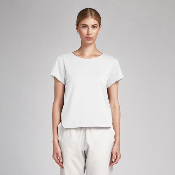 Tissu en coton Popeline Uni – blanc