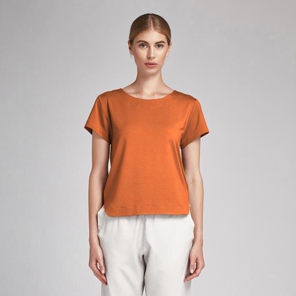 Tissu en coton Popeline Uni – orange