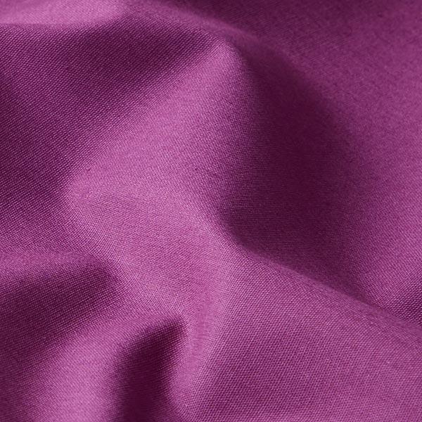 Baumwollstoff Popeline Uni – aubergine
