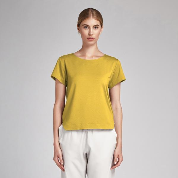 Tissu en coton Popeline Uni – moutarde