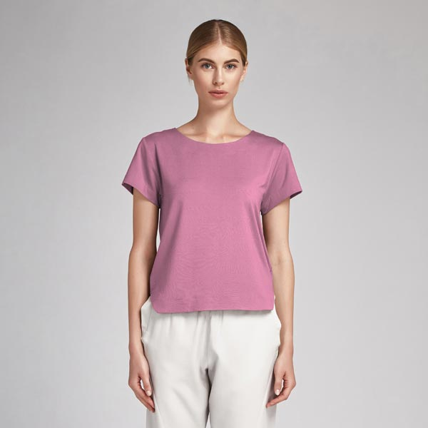 Baumwollstoff Popeline Uni – pastellviolett
