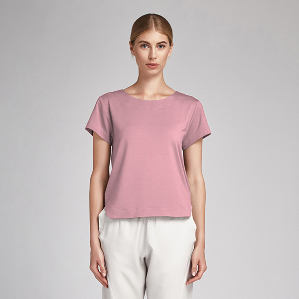 Tissu en coton Popeline Uni – rose foncé