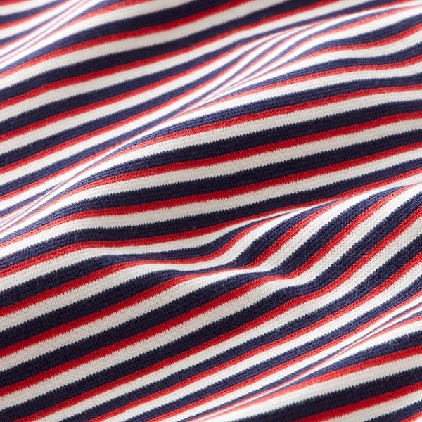 Bord-côtes tubulaire Rayures – bleu/rouge
