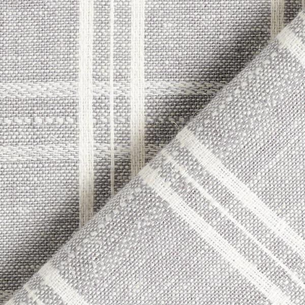 Demi-lin Mélange motif carreaux – gris