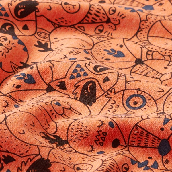 Sweat d'été French Terry Animaux – orange
