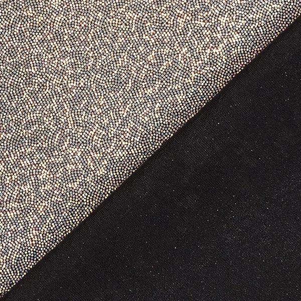 Jersey feuilles Points scintillants – argent/noir