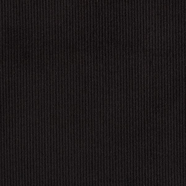 Velours de Gênes élastique, prélavé – noir