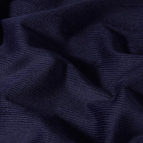 Velours de Gênes élastique, prélavé – bleu marine