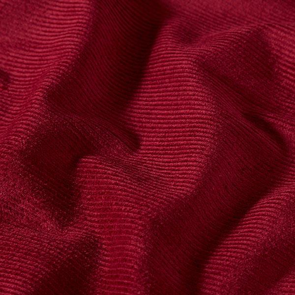 Velours de Gênes élastique, prélavé – rouge bordeaux