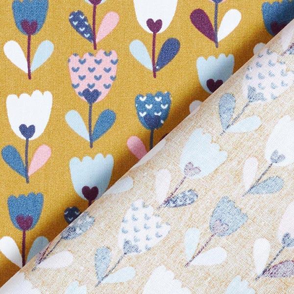 Popeline Tulpen   by Poppy – senf