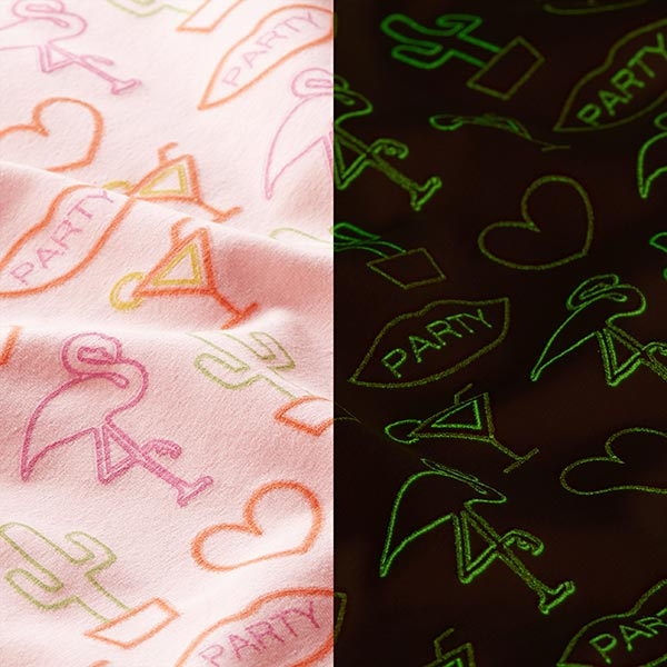 Jersey coton Flamingo Glow-in-the-dark | by Poppy – rose