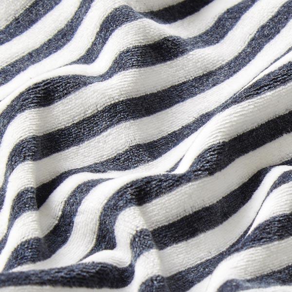 Tissu Nicki Rayures – bleu marine/blanc
