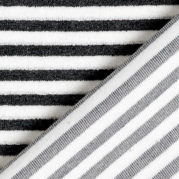 Tissu Nicki Rayures – noir/blanc
