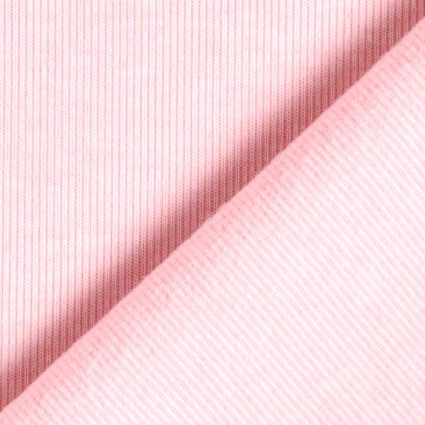 Jersey interlock très doux Rayures fines – rose