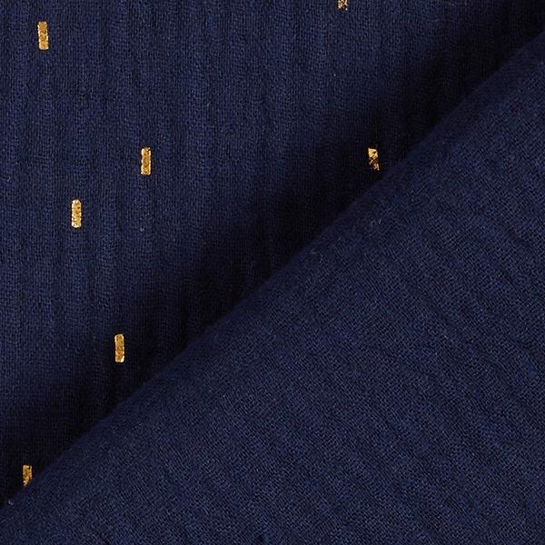 Mousseline Imprimé feuille Rectangle | by Poppy – bleu marine