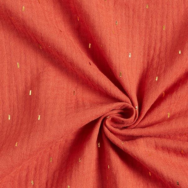 Mousseline Imprimé feuille Rectangle   by Poppy – terre cuite
