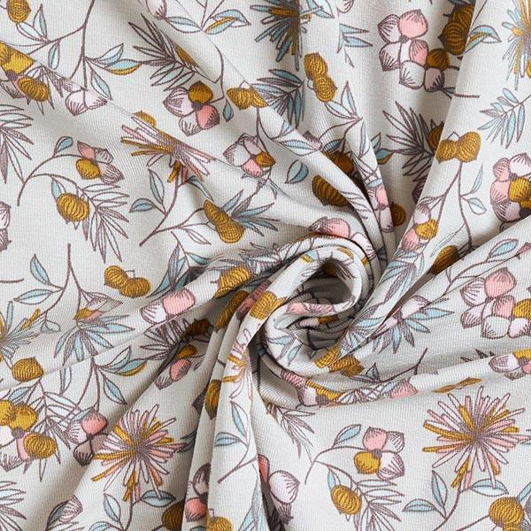 Jersey tencel Fleurs | by Poppy – argent