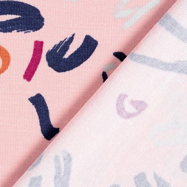 Tencel Jersey Skribbel   by Poppy – rose