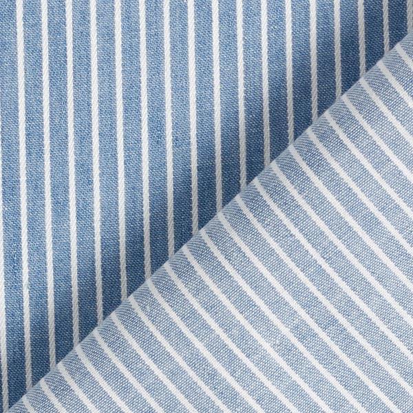 Chambray Fines rayures – bleu