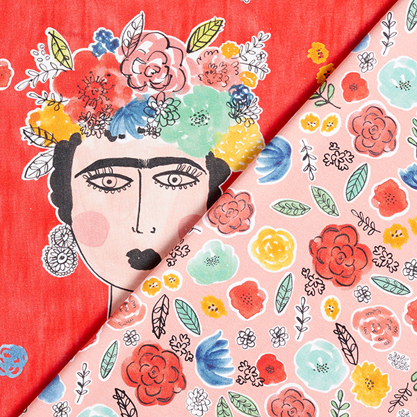 Panel Jersey coton Frieda – rouge