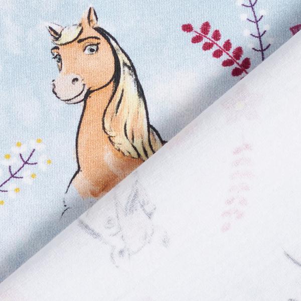 "Jersey coton  ""Spirit Riding Free"" | Dreamworks – bleu bébé"