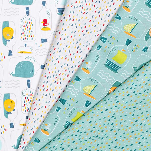 Tissus en coton Popeline  Bouteille à la mer | by Poppy – bleu aqua