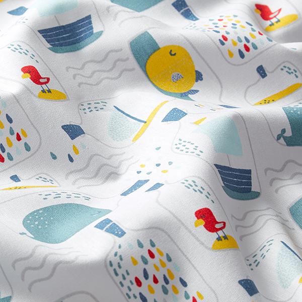 Popeline coton  Bouteille à la mer | by Poppy – blanc