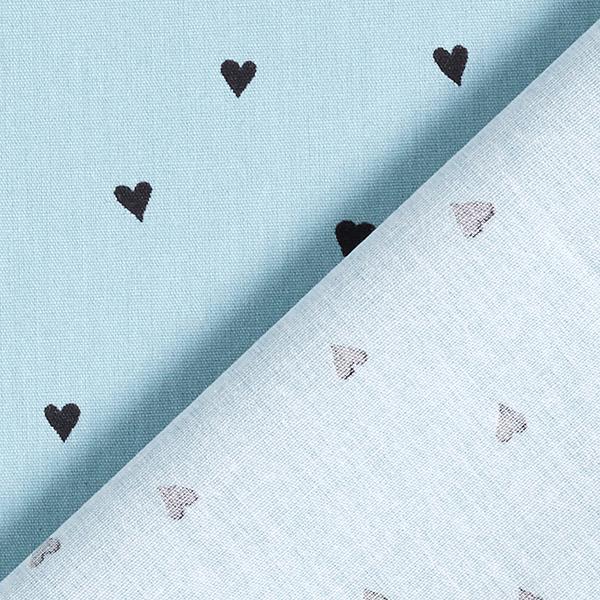 Tissus en coton Popeline  Cœurs | by Poppy – gris bleu