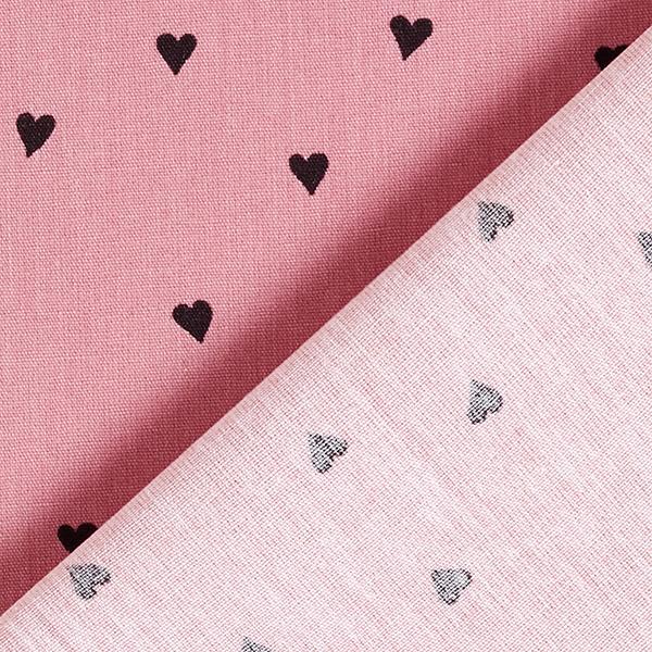 Tissus en coton Popeline  Cœurs | by Poppy – vieux rose