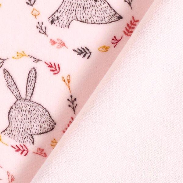 Tissu Nicki animaux de la forêt – rose clair