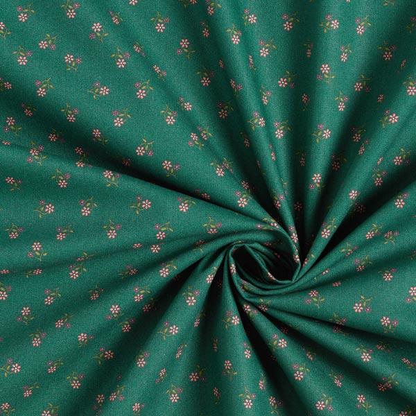 Tissu en coton popeline petites fleurs costumes traditionnels – vert