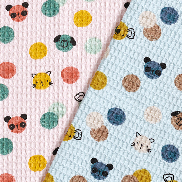 Nid d'abeille Confetti animaux   by Poppy – rosé