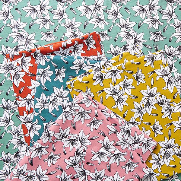 Tissu de décoration Canvas Lys – pétrole