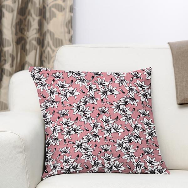 Tissu de décoration Canvas Lys – rose