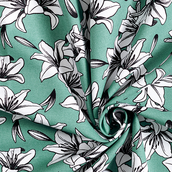Tissu de décoration Canvas Lys – vert menthe