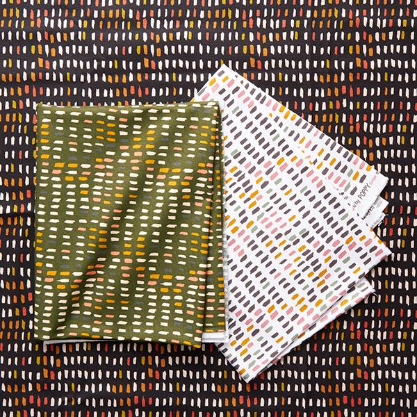 Tissu de décoration Canvas Coups de pinceau – noir