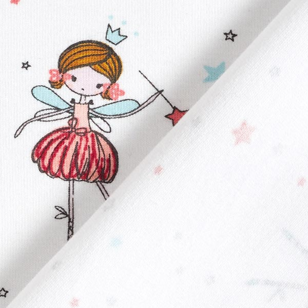 Jersey coton Ballerine de fée – blanc