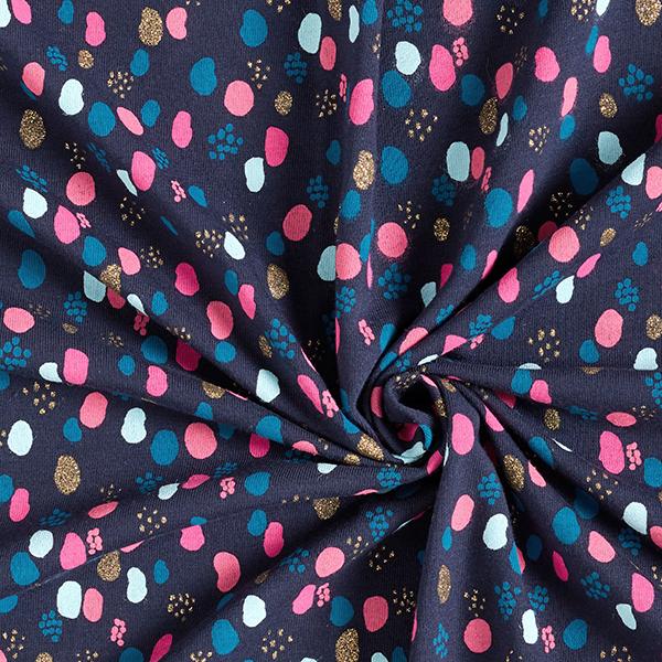 Jersey coton Taches scintillantes | by Poppy – bleu marine