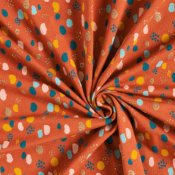 Jersey coton Taches scintillantes | by Poppy – terre cuite