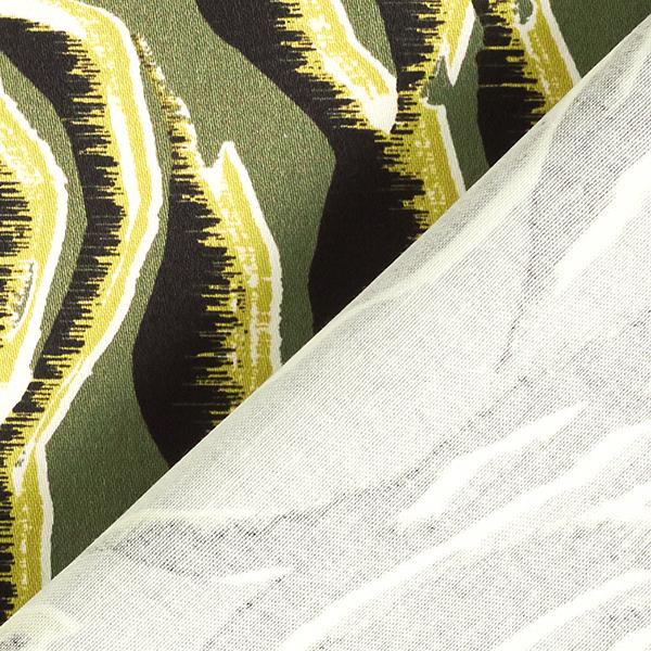 Tissu en coton stretch motif zébré – kaki