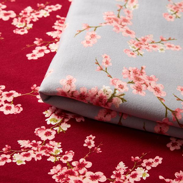 Sweatshirtstoff Kirschblüten GOTS | by Poppy – beere