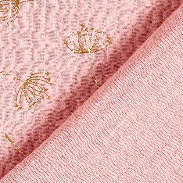 Mousseline de coton Imprimé feuille Pissenlit | by Poppy – rose