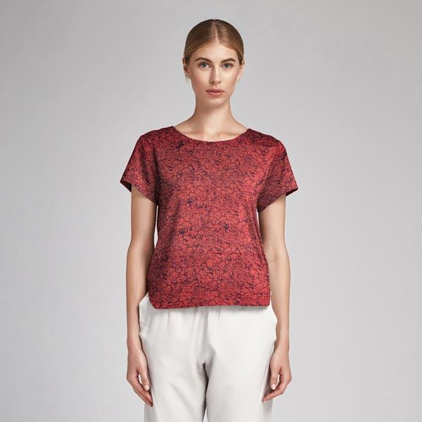 Polyester satin crash – rouge rouille